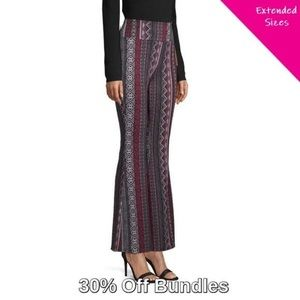 Pants - 3/$20 - High Rise Flare Pants, Fairisle Stripe